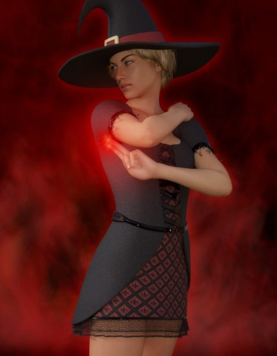 Witch Dress for Genesis 8 Female image