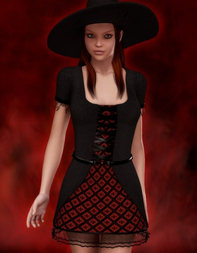 Witch Dress for V4 image