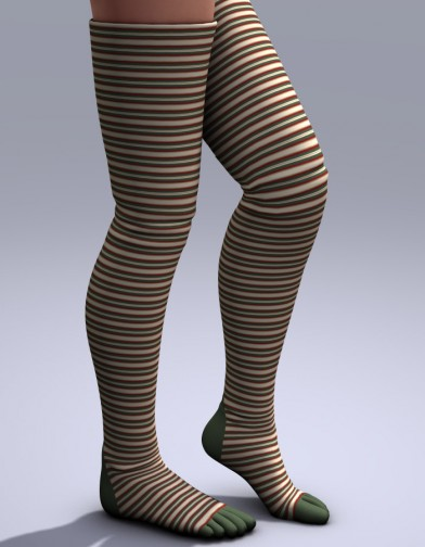 Holidays: Thigh High Toe Socks Xmas Image