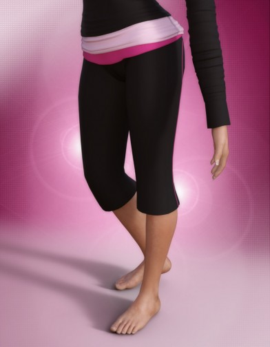 Yoga Capri for Genesis 3 Female image