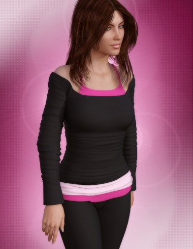 Yoga Shirt for Genesis 3 Female image