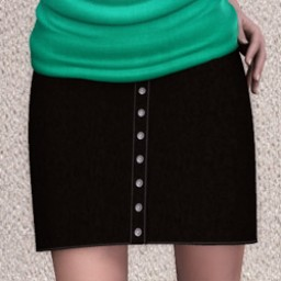 GeneriCorp: Suede Button Skirt for A3 Image