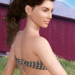 Dairyland Farms: Back Tied Flannel Tube Top for Genesis 3 Female image