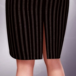 Knee Length Back-Slit Pencil Skirt for V4 image