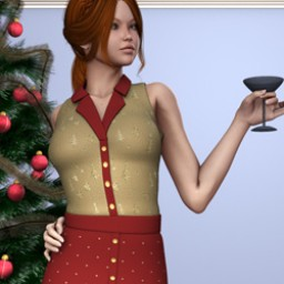 Holidays: Button Down Dress Xmas Image