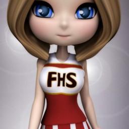 Cheerleader Top for Cookie Image