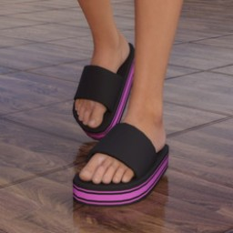 Chunky Sandals for Genesis 3 Female Image