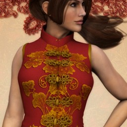 Crimson Flower Dress for Dawn Image
