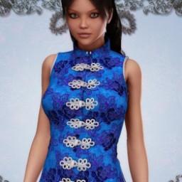 Crimson Flower Dress Textures Image