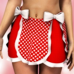 Polkadot Ruffled Skirt with Bows for Dawn image