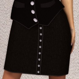 GeneriCorp: Suede Button Skirt for Dawn Image