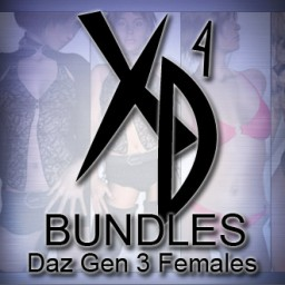 Daz Gen 3 Females CrossDresser Bundle Image
