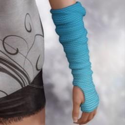 Fingerless Gloves for Genesis 3 Female image