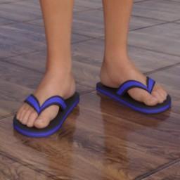 Flip Flop Sandals for Genesis 3 Female Image