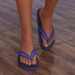 Flip Flop Sandals for Genesis 8 Female image
