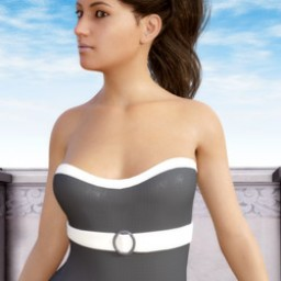 Front Buckle Swimsuit for Genesis 8 Female image