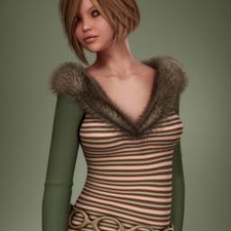 Holidays: Classy Fur Trimmed Dress Xmas Image