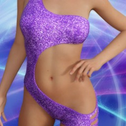 Violet Suit for Genesis 8 Female image