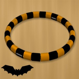 Holidays: Beaded Bracelet & Anklet Halloween Image