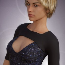 Keyhole Top for Genesis 8 Female image