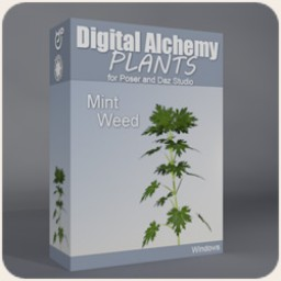 Digital Alchemy: Mint Weed Image