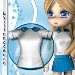 School Girl Shirt for Cookie Image