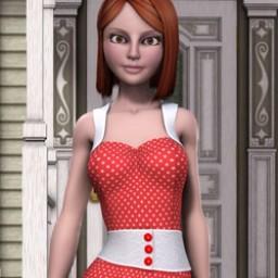 Nostalgia: 1950's Housewife Dress for SuzyQ 2 Image