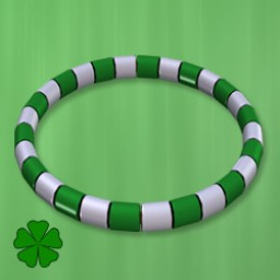 Holidays: Beaded Bracelet & Anklet St. Patty Image