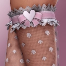 Pink LUV: Lacey Heart Leggings for V4 Image