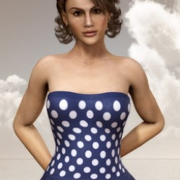 Nostalgia: Polka Dot Swim Dress for Dawn image