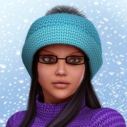 Winter Knit Hat with Pom Pom for V4 image