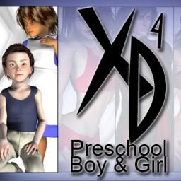 Preschool Boy and Girl CrossDresser License Image