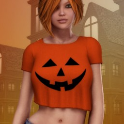 Pumpkin Shirt for V4 image