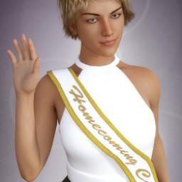 Homecoming Court Sash for Genesis 8 Female image