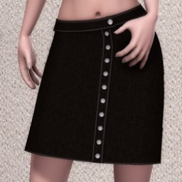 GeneriCorp: Suede Button Skirt for SuzyQ 2 Image