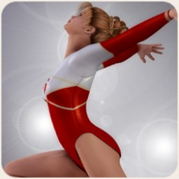 School Spirit: Gymnast Poses for V4 Image