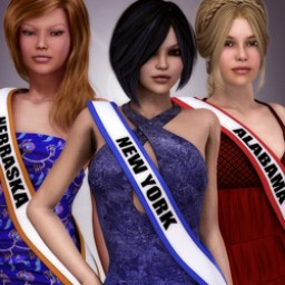 States Pageant Textures for Sash