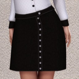 Genericorp: Suede Button Skirt for V4 IMage