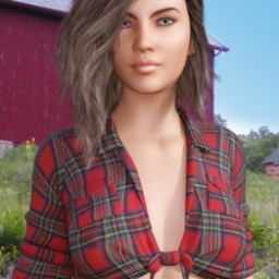 Dairyland Farms: Tied Flannel Shirt for Genesis 3 Female image