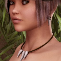 Jungle Fang Necklace/Earrings for V4 IMage