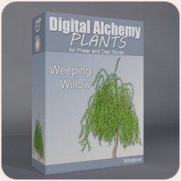 Digital Alchemy: Weeping Willow Image