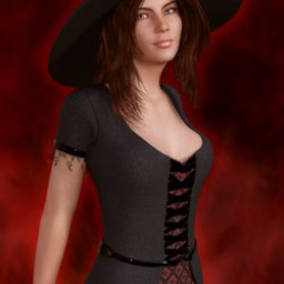 Witch Dress for Genesis 3 Female image