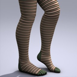 Holidays: Thigh High Toe Socks Xmas Image