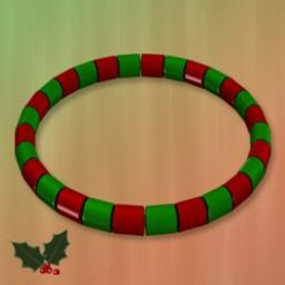 Holidays: Beaded Bracelet & Anklet Xmas Image
