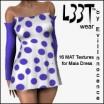 Maia Dress wPolkadot Textures