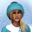 Winter Knit Hat with Pom Pom for Dawn