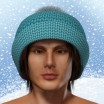 Winter Knit Hat with Pom Pom for Dusk