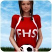 School Spirit: Soccer Uniform for V4