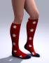 Holidays: Knee High Toe Socks 4th of July