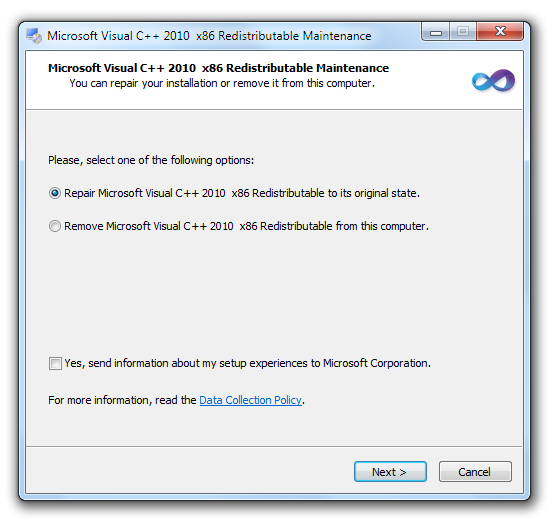 Visual C++ Runtime Installer